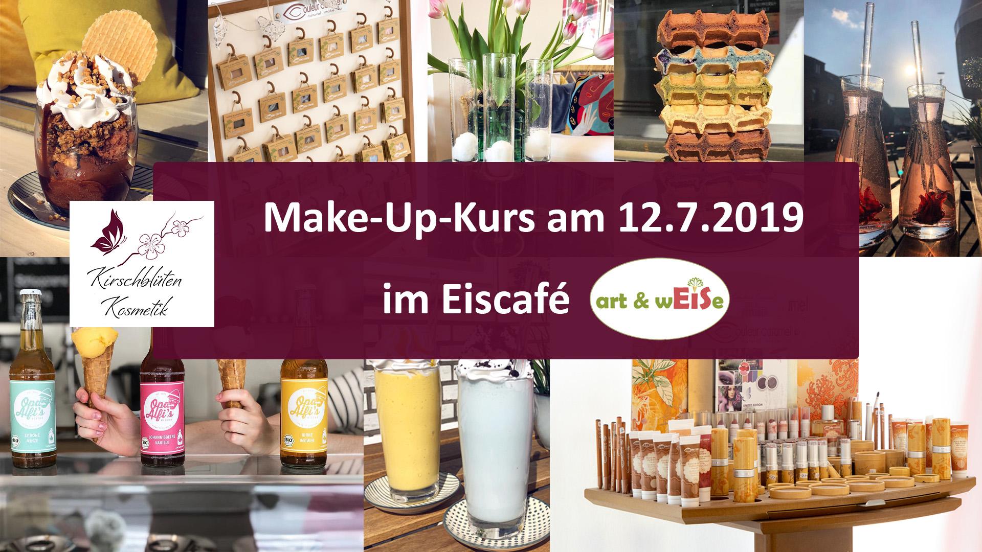 Make-Up-Kurs im Eiscafé art & wEISe